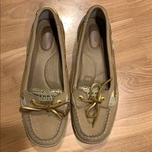 Sperry Top-sider flats tan leather size 6.5